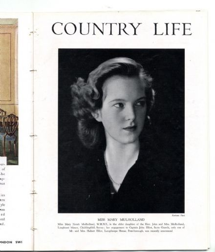 1944 COUNTRY LIFE Magazine MARY MULHOLLAND ELLIOT Bower House Havering (2642)